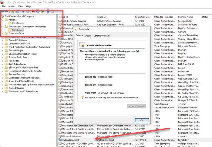 Как создать самозаверяющие SSL-сертификаты в Windows 10